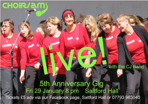 5th anniversary gig flyer a5